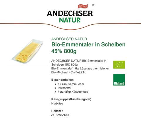 EU-Schulmilch - BIO Käse Emmentaler